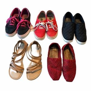 Vans Toms Sneakers Set Bundle of 5 pair shoes